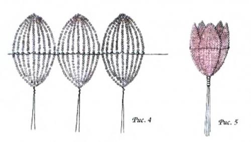 http://vrukodelii.com/tehnika-proshivki-lepestkov.  Прошивка крупных лепестков и листьев цветов из бисера...