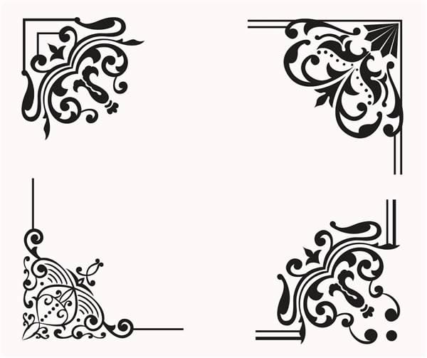 Шаблоны орнамента для декора