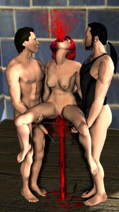 Порно посадили накол