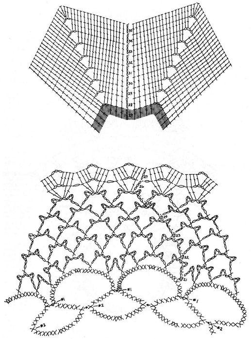 Вязание крючком. Порхающая салфетка1 (517x698, 93Kb)