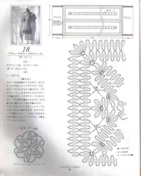 钩针披肩(1) - 荷塘秀色 - 茶之韵