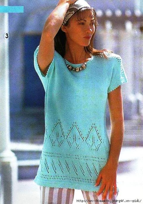 Блузка с ажурной каймой