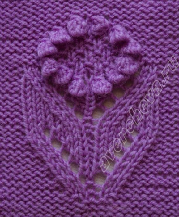 Узор буфы вязание спицами
