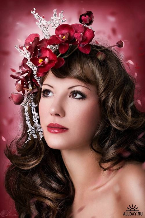 Фото с цветами портрет