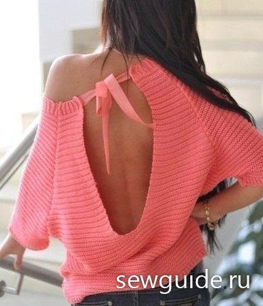 rozovaya_kofta_s_vyrezom_na_spine-section-spicami-vyazanye_kofty_svitery_shemy (369x429, 27Kb)