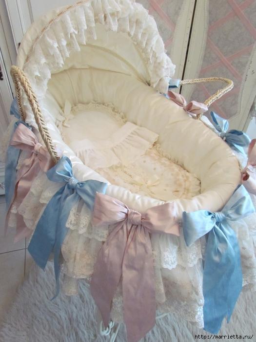 Очень красивая идея оформления кроватки для новорожденного (7) (525x700, 256Kb)
