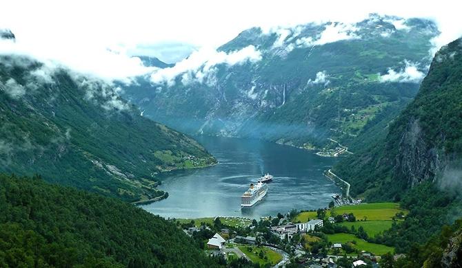 норвежские фьорды фото Geirangerfjorden (670x390, 241Kb)