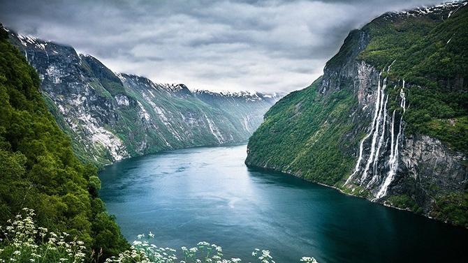 норвежские фьорды фото Geirangerfjorden 3 (670x377, 273Kb)
