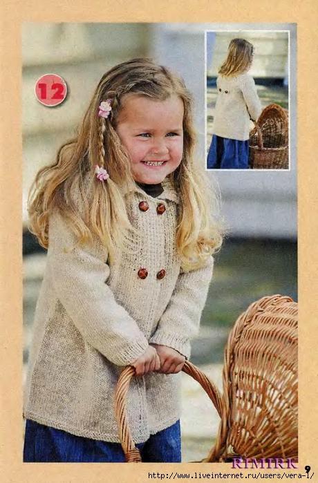 16 янв 2012 Метки: Вязание для детей, пальто, спицами Летнее детское. Sign