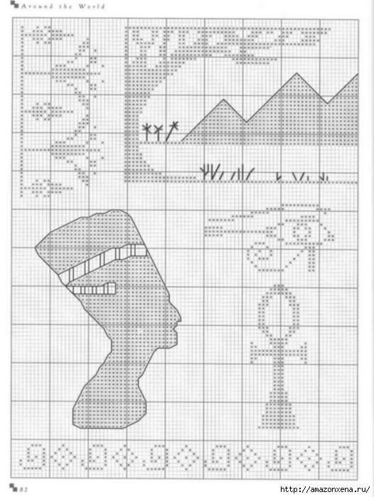 Подушки с вышивкой. Тематика - САФАРИ, ЕГИПЕТ (5) (526x699, 193Kb)