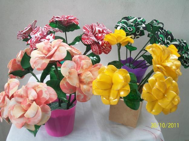 цветы из пластиковых бутылок (23) (625x469, 156Kb)
