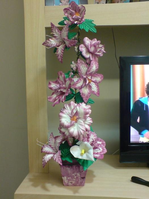 цветы из пластиковых бутылок (27) (525x700, 241Kb)