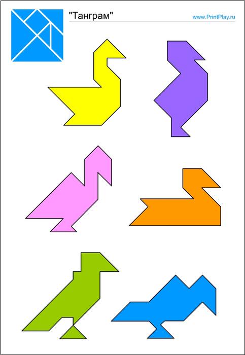 Танграм для детей схема скачать: https://pfschemes.appspot.com/tangram-dlya-detyay-shema-skachat.html