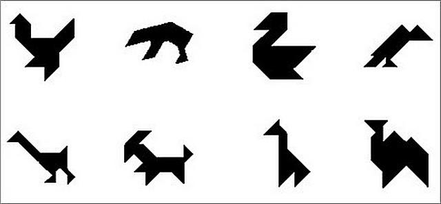 """Часть 2 - Игра-головоломка -  """"Танграм """" Часть 3. И в конце предлагаю ещё несколько схем для сборки  """"Танграма """" ."""