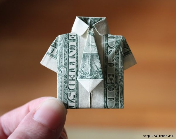идея рубашка из доллара (604x477, 107Kb)