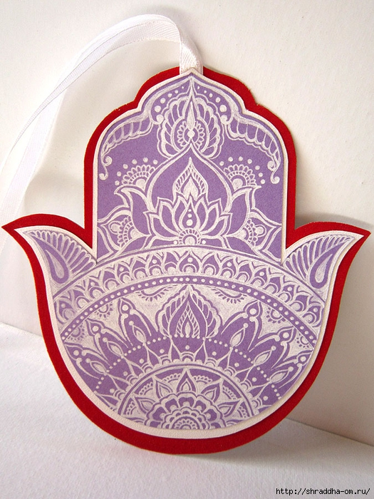 закладка ХАМСА, автор Shraddha (1) (525x700, 339Kb)