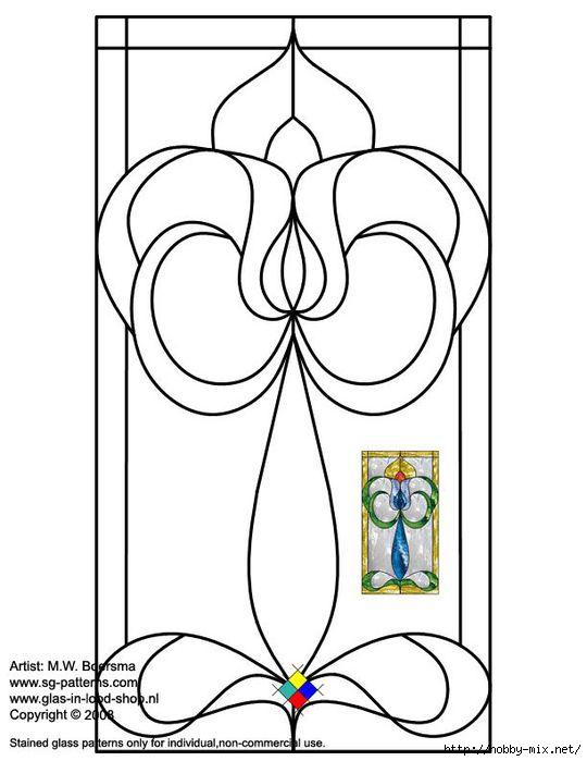 Витраж на стекле своими руками схемы шаблоны