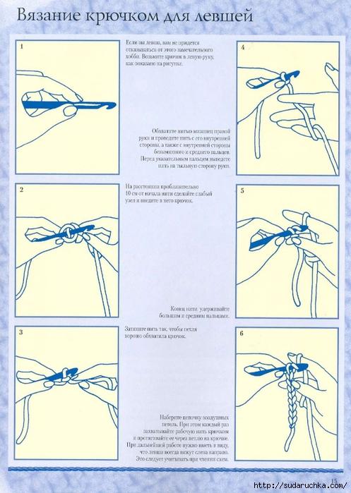Уроки для начинающих вязать салфетки