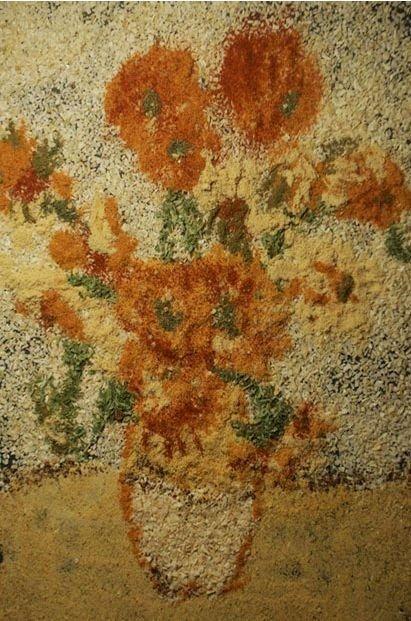 Потрясающие картины, изготовленные из соли и специй