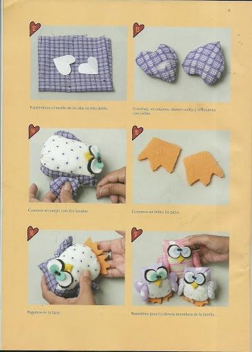 игрушки из ткани с выкройками. совушки (8) (366x512, 112Kb)