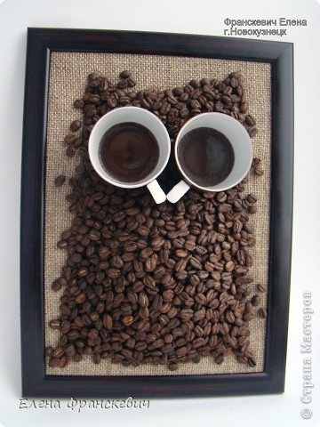 Совы из кофейных зерен своими руками