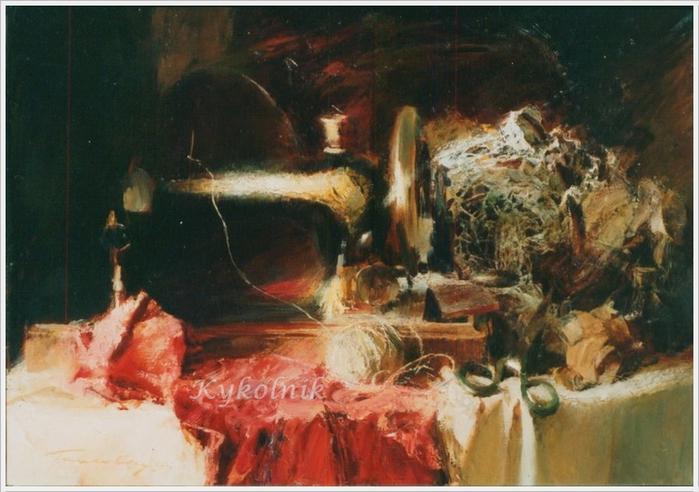 Павловец Александр Егорович «Натюрморт с машинкой Зингера» (700x492, 249Kb)