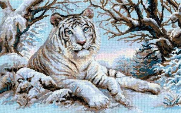 Вышивка крестом схема бенгальского тигра