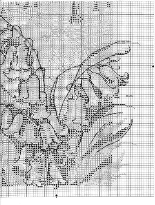 Схема вышивки Фруктово-цветочный венок.