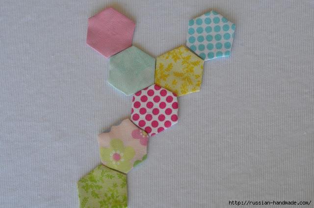 Урок лоскутного шитья. Цветочек из шестиугольников для аппликации (13) (640x424, 146Kb)
