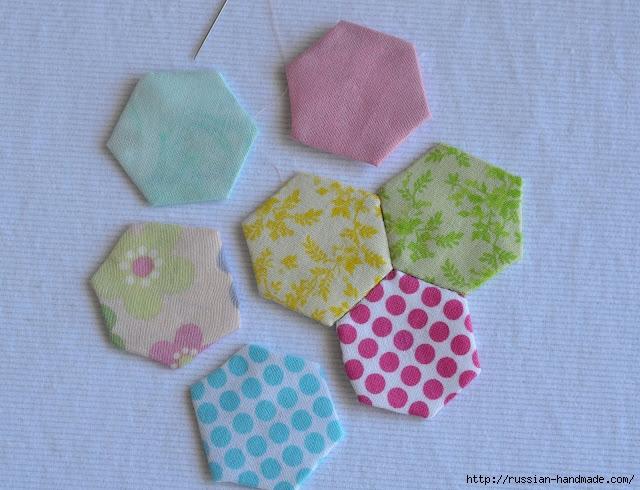 Урок лоскутного шитья. Цветочек из шестиугольников для аппликации (23) (640x490, 238Kb)