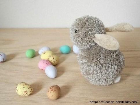 Пушистый кролик из помпонов. Маленький мастер-класс (4) (484x361, 96Kb)