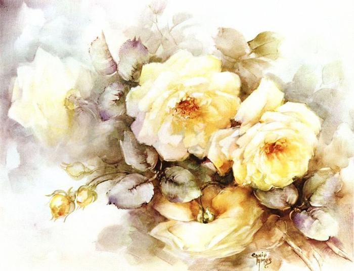 Картинки для декупажа цветы винтаж 5