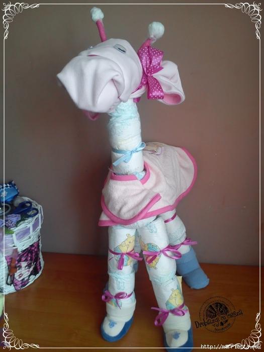 Замечательные подарки для новорожденного из памперсов! (2) (525x700, 239Kb)