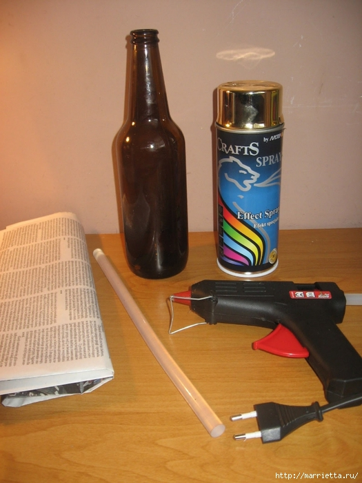 Выпиваем пиво, разбиваем бутылку и создаем креативный подсвечник) Мастер-класс по разбиванию бутылки (1) (525x700, 236Kb)
