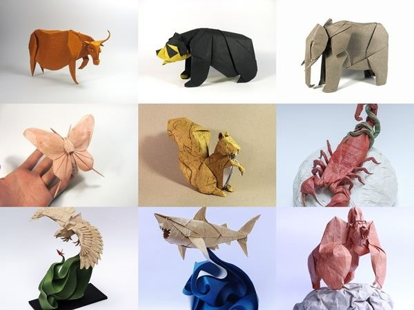 Нгуен Хунг Куонг. Бумажные фигурки-оригами животных