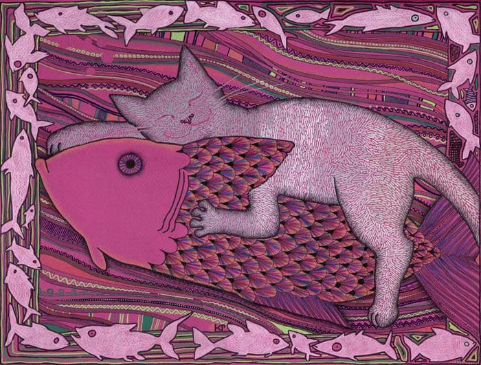 рыбки вышивки крестом