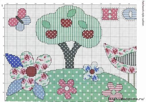 Схемы вышивки крестом для детской подушки (3) (512x359, 188Kb)