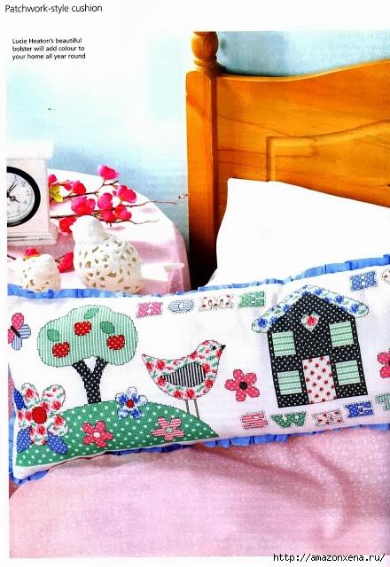 Схемы вышивки крестом для детской подушки (5) (440x640, 219Kb)