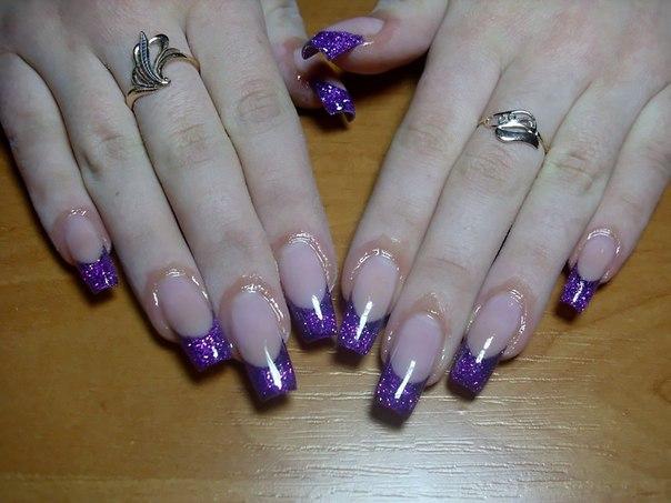 Нарощенные ногти без рисунков