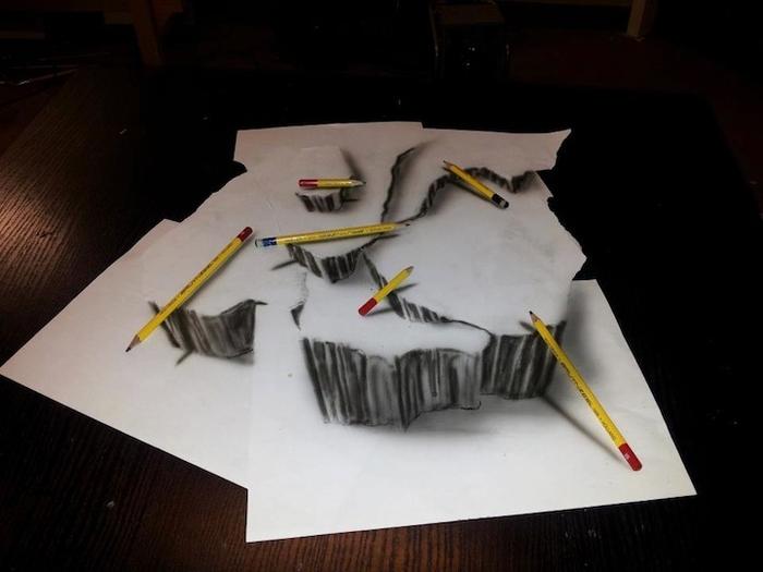 трехмерные рисунки простым карандашом  Ramon Bruin 8 (700x525, 150Kb)