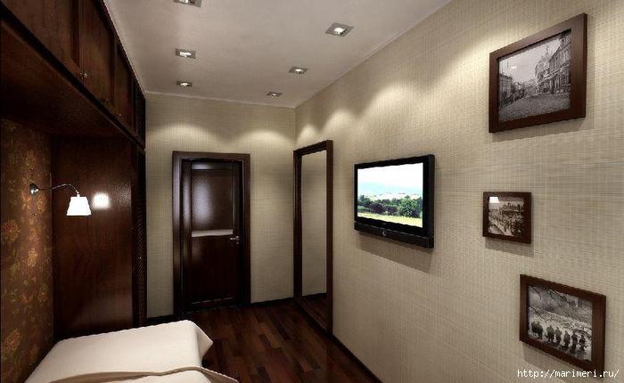 Дизайн узкой спальни фото - фотографии