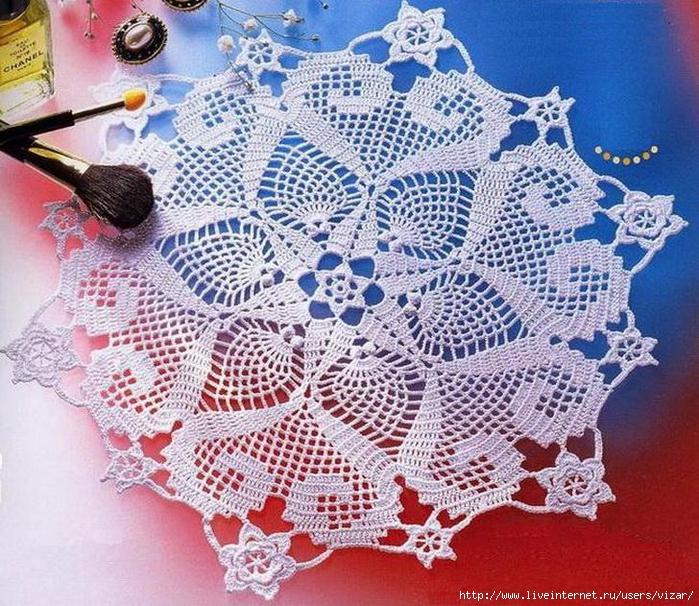 Doily crochet doily (700x606, 435Kb)