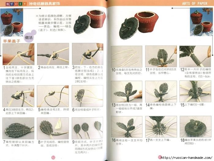 Журнал по плетению из трубочек и полосок из газет (30) (700x527, 261Kb)
