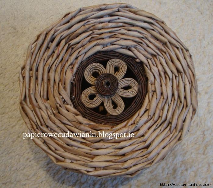 плетение из газет. как красить трубочки для плетения из газет (5) (700x615, 361Kb)