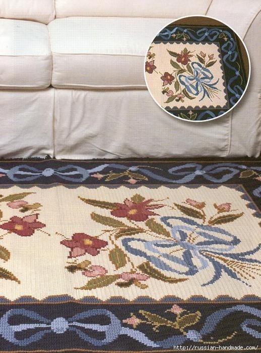 Коврики своими руками в технике ковровой вышивки. СХЕМЫ (5) (518x699, 238Kb)