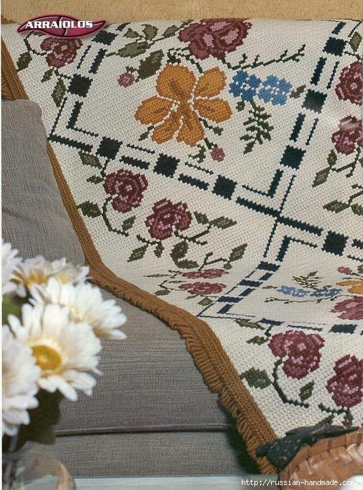 Коврики своими руками в технике ковровой вышивки. СХЕМЫ (15) (518x699, 291Kb)