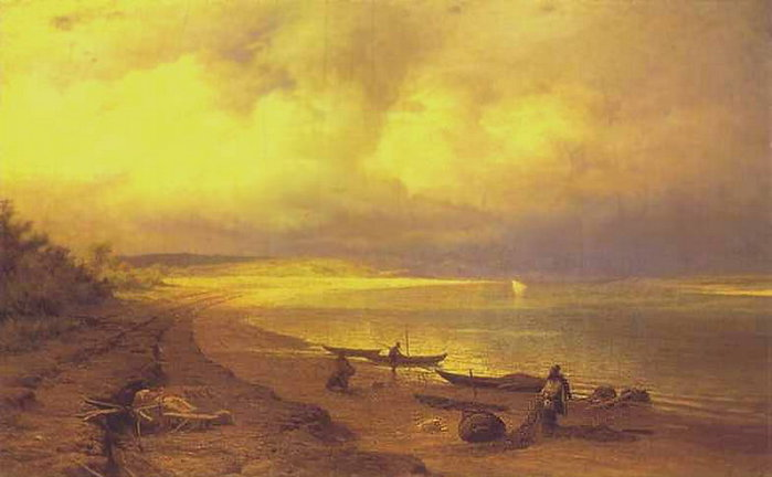 Берег Волги после грозы. 1871 (700x432, 43Kb)