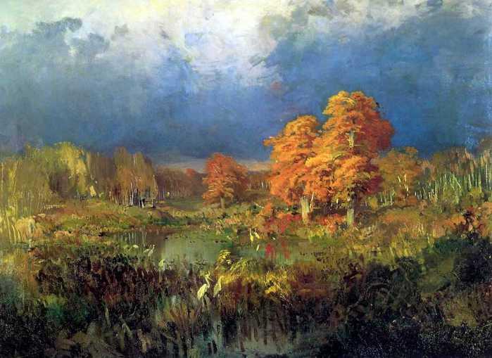 Болото в лесу. Осень. 1872 (700x509, 42Kb)