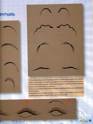 Как нарисовать глазки. Журнал (20) (386x512, 105Kb)