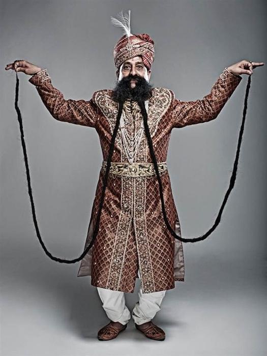 Ram Singh Chauhan самые длинные усы в мире фото 1 (525x700, 195Kb)